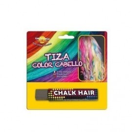 Tiza de color para pintar el pelo gris barra