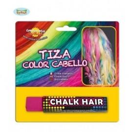 Tiza de color para pintar el pelo fucsia barra