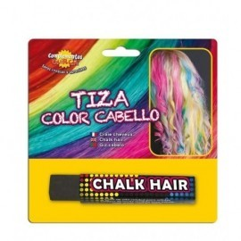 Tiza de color para pintar el pelo negro barra