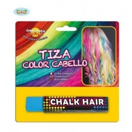 Tiza de color para pintar el pelo azul claro barra