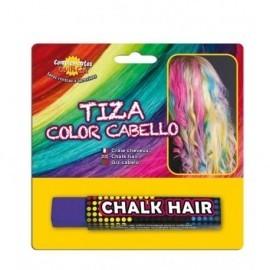Tiza de color para pintar el pelo lila barra