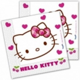 Servilletas hello kitty hearts 20 unidades