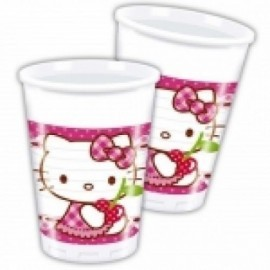 Vasos hello kitty hearts 8 unidades