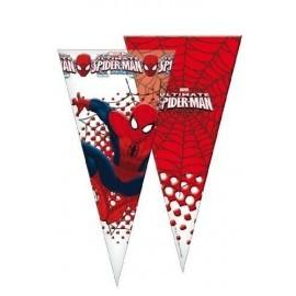 Bolsa cono cumpleaños spiderman