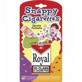 Cigarrillos picadedos que muerden broma cajetilla