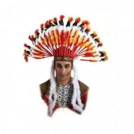 Penacho indio jefe guerrero