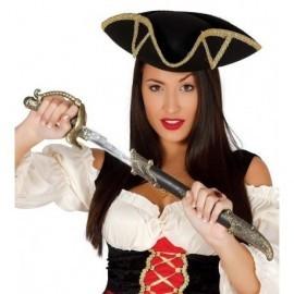 Espada pirata corsaria con funda 51 cm