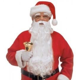 Barba blanca papa noel extra con cejas y bigote