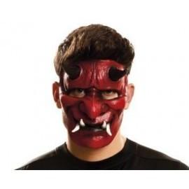 Media mascara demonio rojo