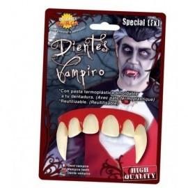 Dientes vampiro colmillos con pega termoplastica