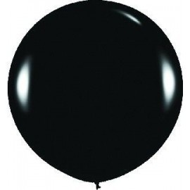 Globo balon negro fashion solido r-36 sempertex