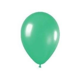 Globo latex solido verde R5 12.5cm 100 uds sempertex