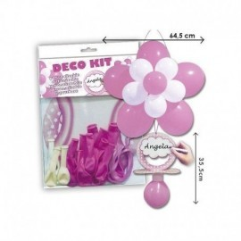 Decoracion globos kit chupete niña baby shower
