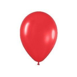 Globo rojo R9 23 cm Sempertex latex 50 unid