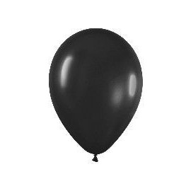 Globo negro R9 23 cm Sempertex latex 50 uni