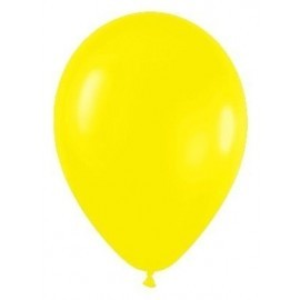 Globo amarillo R9 23 cm Sempertex latex 50