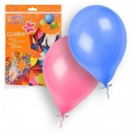 Globos latex colores surtidos 100 und. 23 cm 9