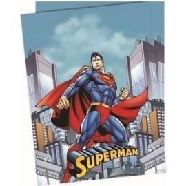 Mantel superman 120 x 180 cm plastico cumpleaños