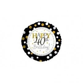 Globo happy 40 birthday cumpleaños 45 cm foil