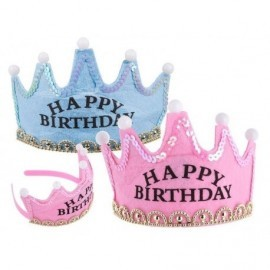 Corona princesa tiara happy birtday con 5 luces led