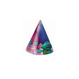 Sombreros trolls 6 unidades gorros cumpleaños