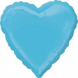 Globo corazon azul pastel 18 45 cm helio o aire