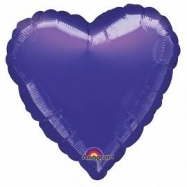 Globo corazon morado 18 45 cm helio o aire