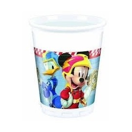 Vasos mickey coches de carreras 8 uds 200 ml