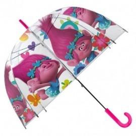 Paraguas burbuja trolls 48 cm oficial y barato para niña