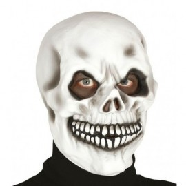Mascara calavera blanca careta latex halloween