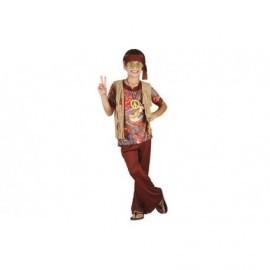 Disfraz de hippie marron oscuro infantil niño tallas
