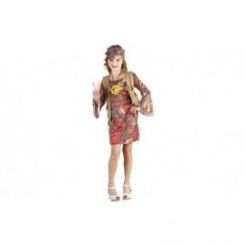 Disfraz de hippie niña vestido infantil tallas