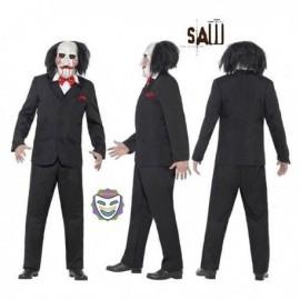 Disfraz de jigsaw saw puzzle titere bill marioneta tallas
