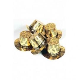 Chistera feliz año nuevo dorado oro