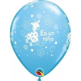Globo es un niño azul pony para bebe niño 30 cm unidad