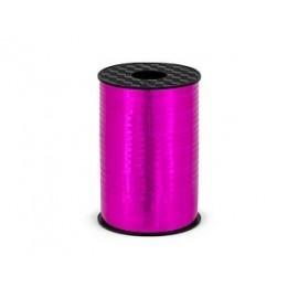 Lazo rosa fucsia metalico para globos o decoraciones 225 mt x 5 mm