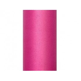 Tul rosa fucsia rollo de 9 mt x 15 cm para decoraciones