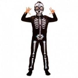 Disfraz de esqueleto para niño talla 5 a 6 años
