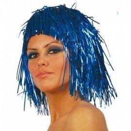 Peluca azul brillante de lumalina fiesta