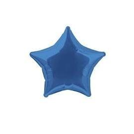 Globo estrella azul 50 cm para helio o aire