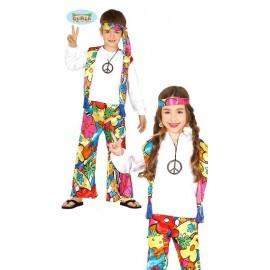 Disfraz de hippie para niño o niña unisex varias tallas