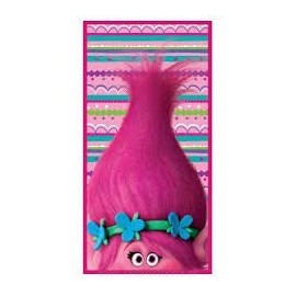 Toalla trolls rosa poppi 70 x 140 100% algodón