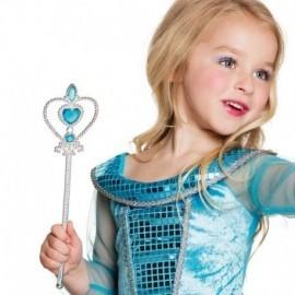 Varita magica para niña corazon azul 30 cm
