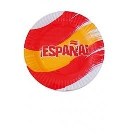 Platos carton españa 8 uds selección española