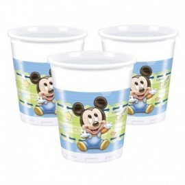 Vasos mickey mouse bebe 8 unid. 200 ml