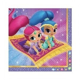 Servilletas shimmer and shine 33 x 33 cm 16 uds