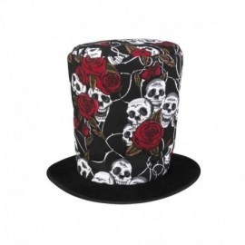 Sombrero copa calaveras y rosas