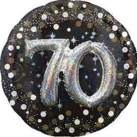 Globo 70 cumpleaños 3d