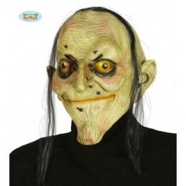 Mascara de Bruja original fea con pelo