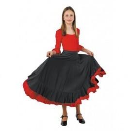 Falda bailaora flamenca para niña tallas